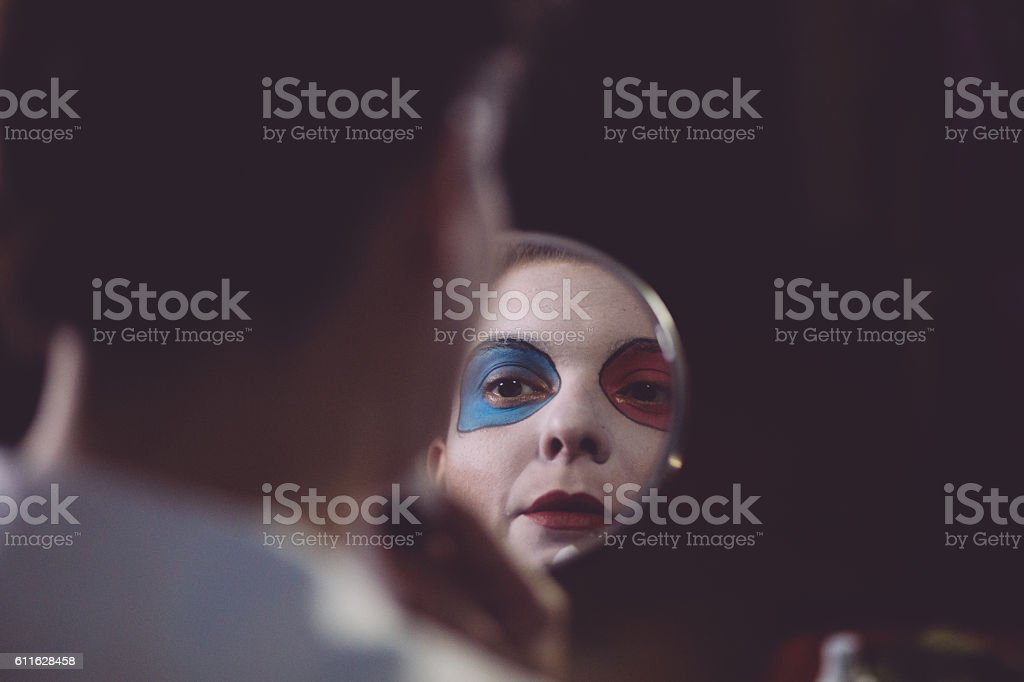 Mirror,mirror on the wall ,tell me mirror... stock photo