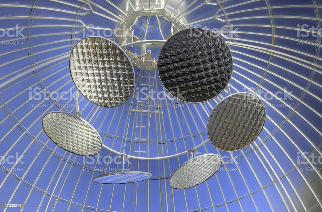 Mirrors in the Kibble Palace royalty-free stock photo