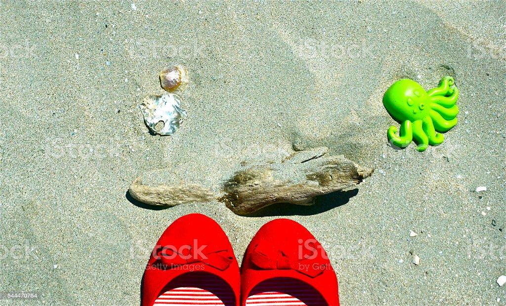 Mis Zapatos Rojos stock photo
