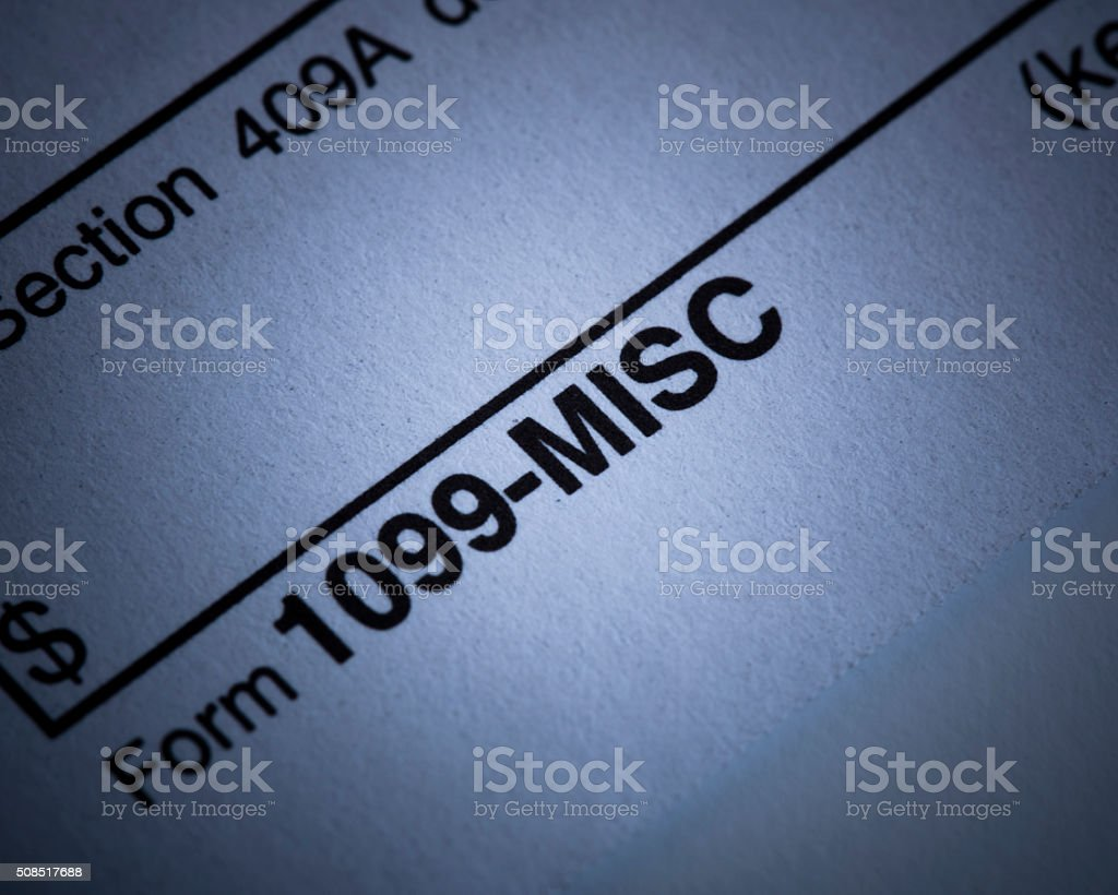 1099 - Misc form stock photo