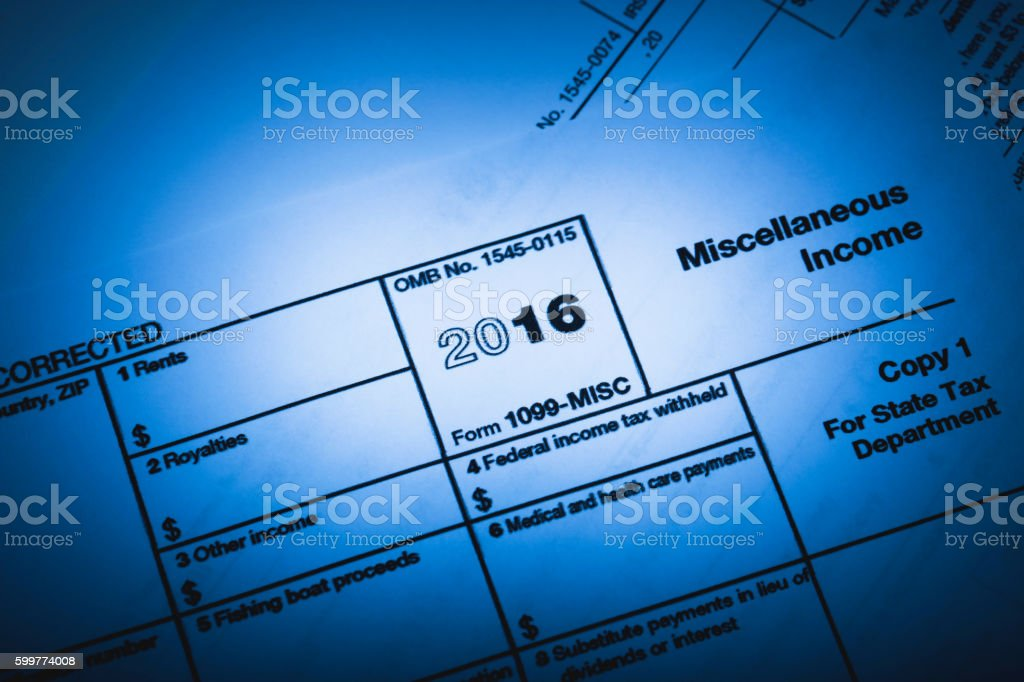 1099 Misc Tax stock photo