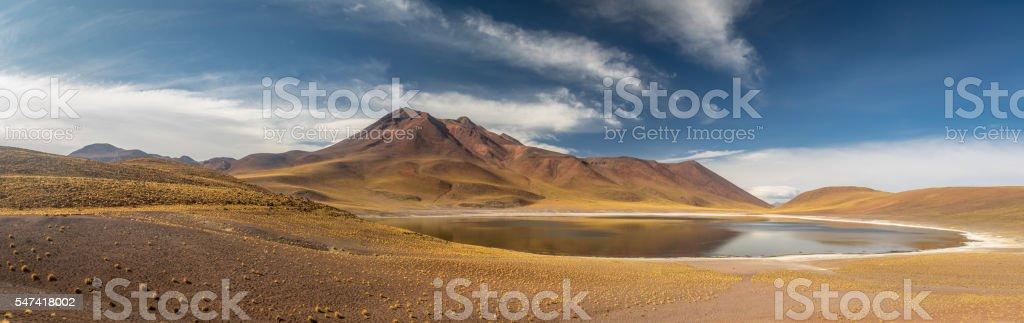 Miscanti Lagoon and mountains in Atacama Desert - Chile stock photo