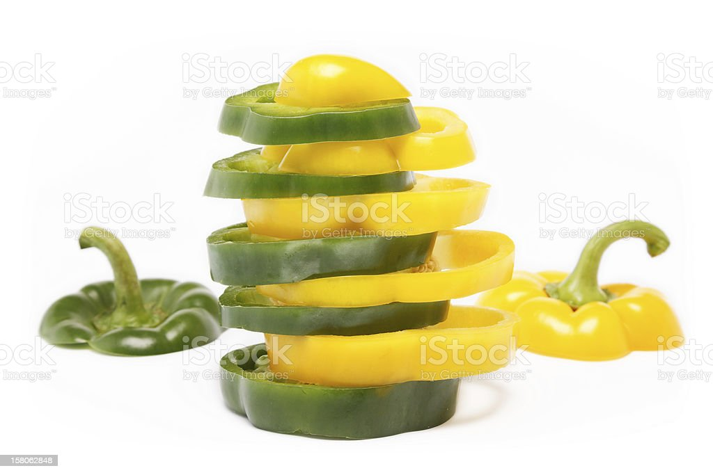 Miscellaneous colored peppers royalty-free stock photo