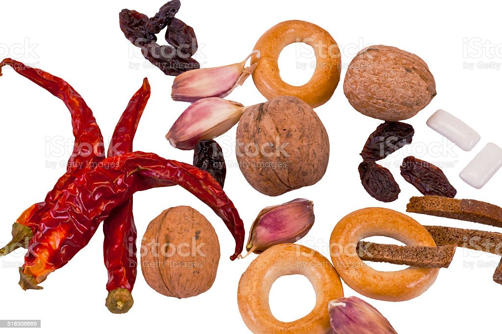 Miscellaneous food products stock photo
