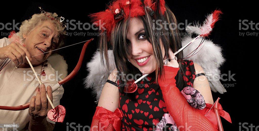 Mischievous Cupid stock photo