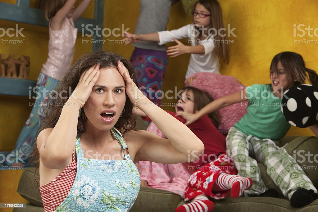 Mischievous Little Girls stock photo