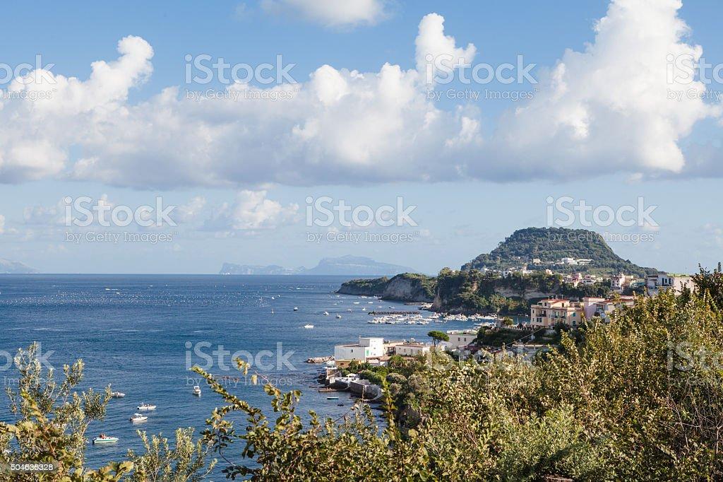 Miseno Peninsula,Bay of Naples, Italy stock photo