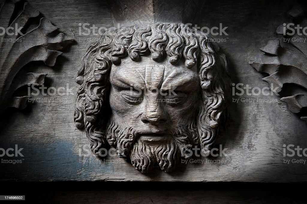 Misericord seat carving royalty-free stock photo