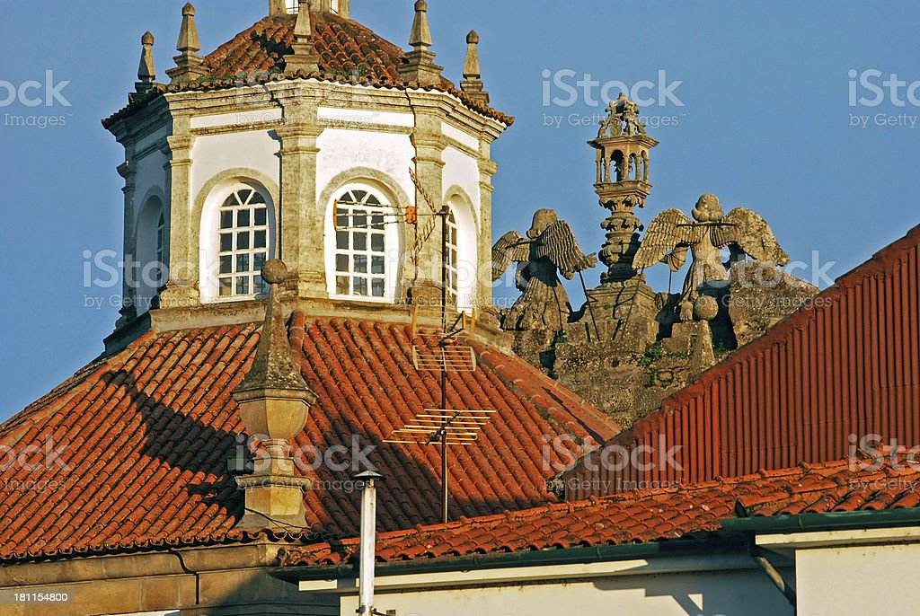 Misericordia Church in northern Portugal dates from 17th century royalty-free stock photo