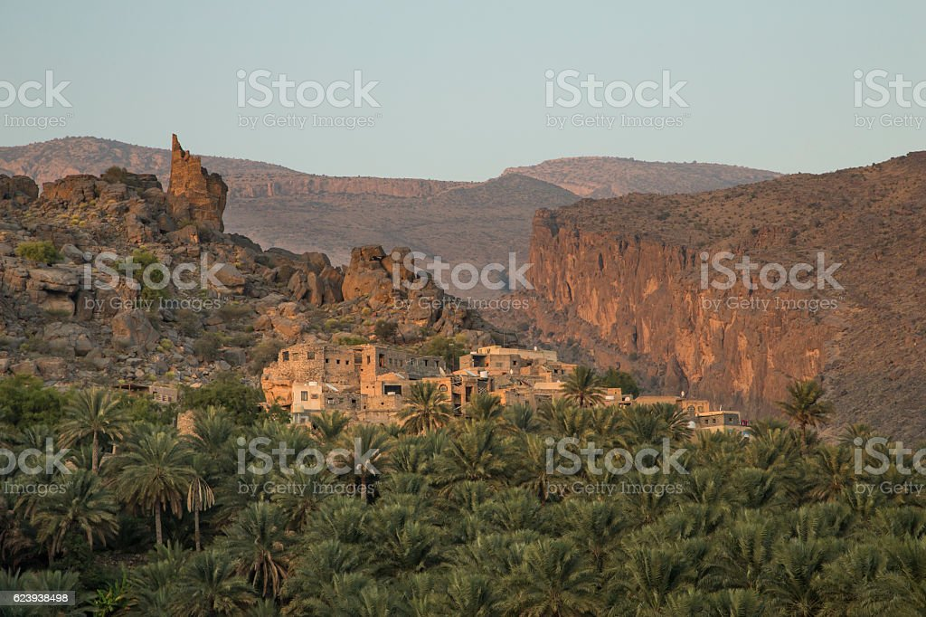 Misfat al Abereen in Nizwa, Oman stock photo