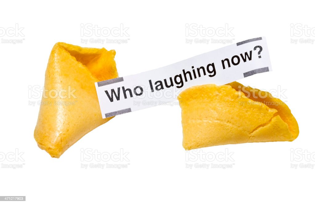 Mis-Fortune Cookie royalty-free stock photo