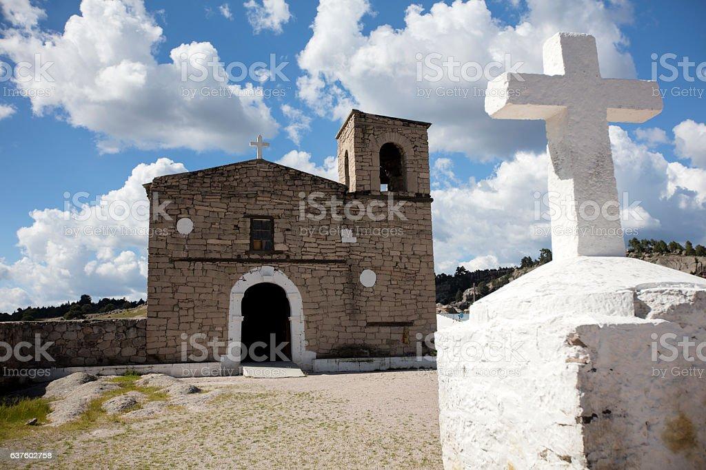 Mision de San Ignacio, Creel, Chihuahua, Mexico stock photo