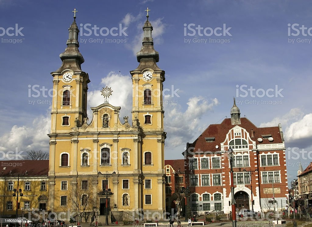 Miskolc square royalty-free stock photo