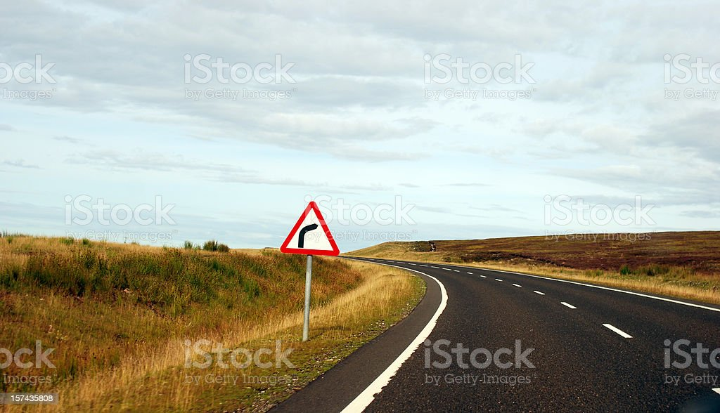Misleading sign in the Highlands, Scotland royalty-free stock photo
