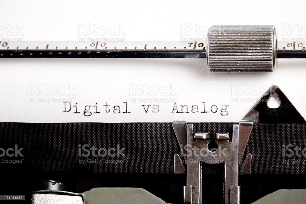 Mismatch technology, Digital vs Analog royalty-free stock photo