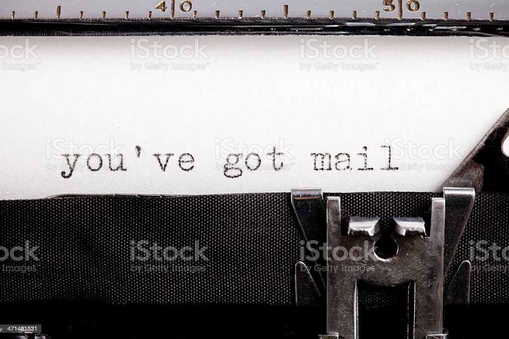 Mismatch technology, internet and old typewriter royalty-free stock photo