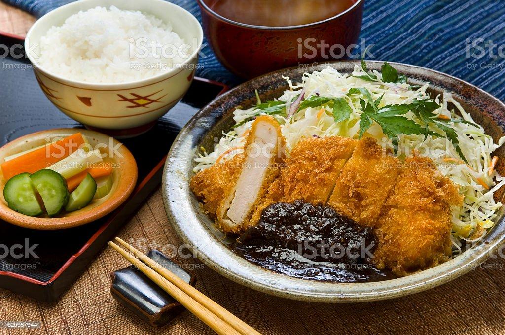Miso Katsu Aichi / Local cuisine stock photo