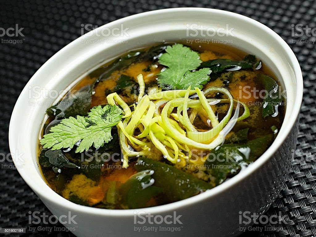 Miso soup , Japanese Food stock photo
