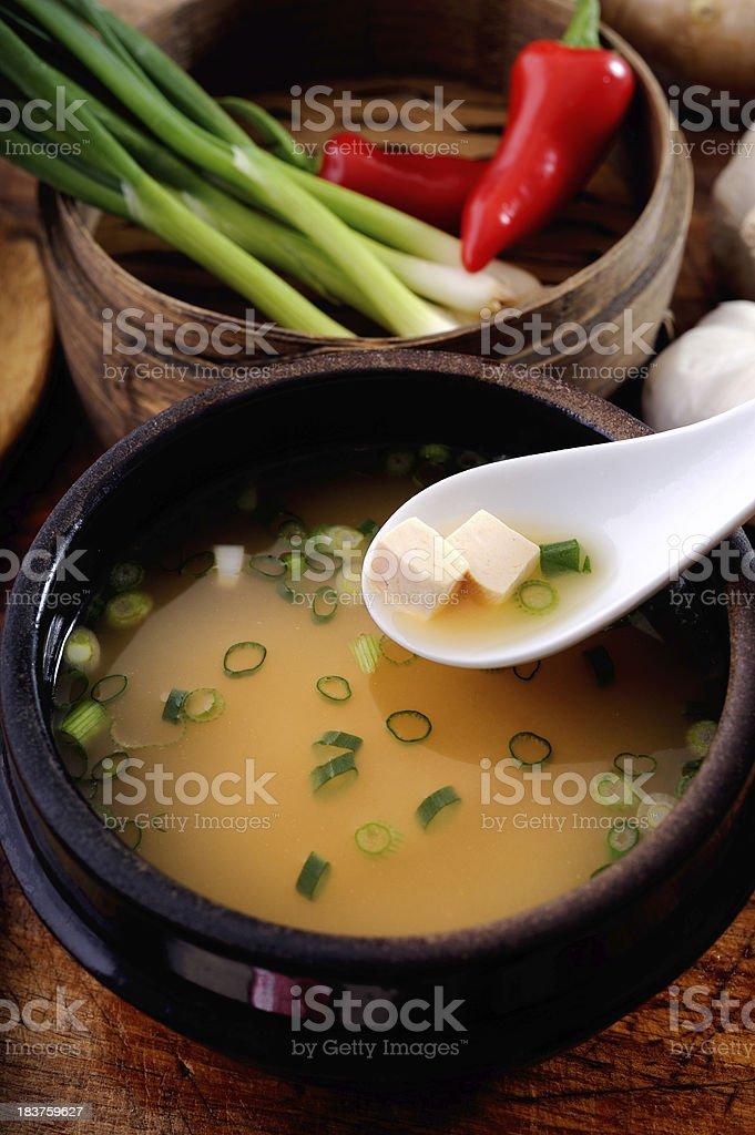 Miso Soup royalty-free stock photo