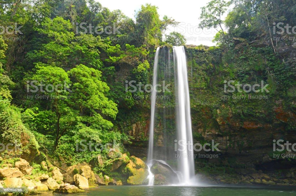 Misol Ha Waterfall stock photo