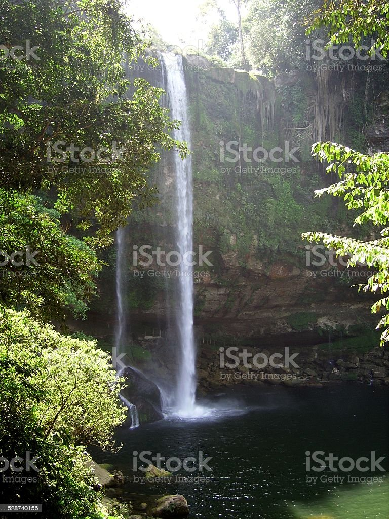 Misol-Ha waterfall, Chiapas stock photo