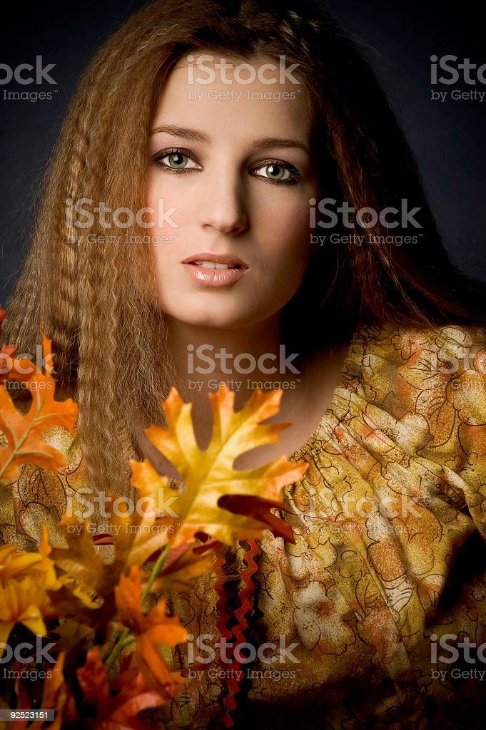 Miss Autumn - 5 royalty-free stock photo