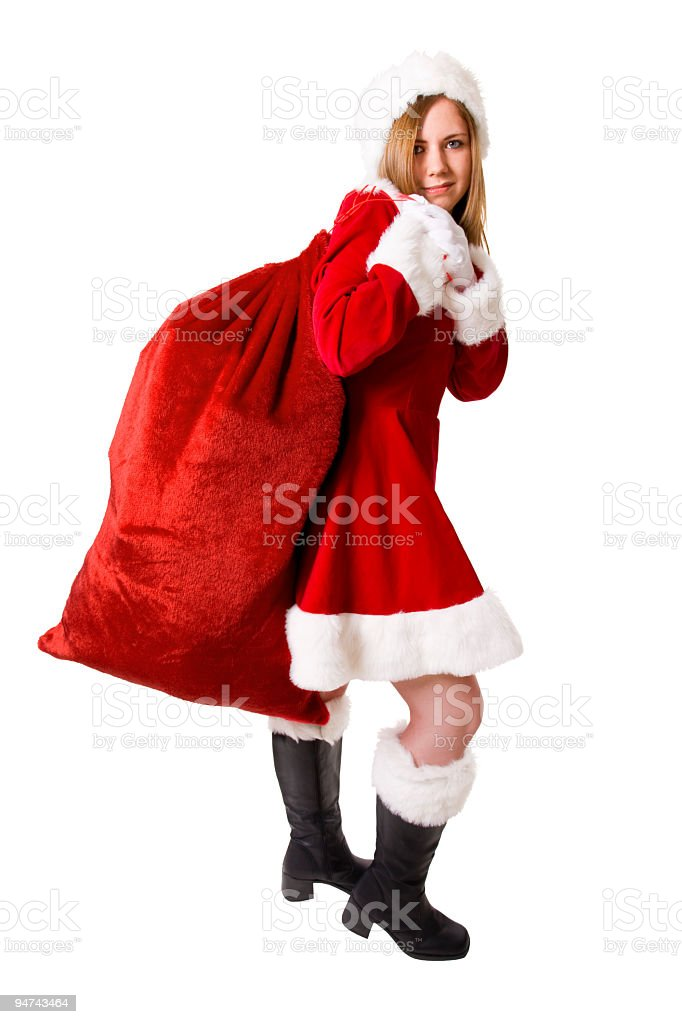 Miss Claus royalty-free stock photo