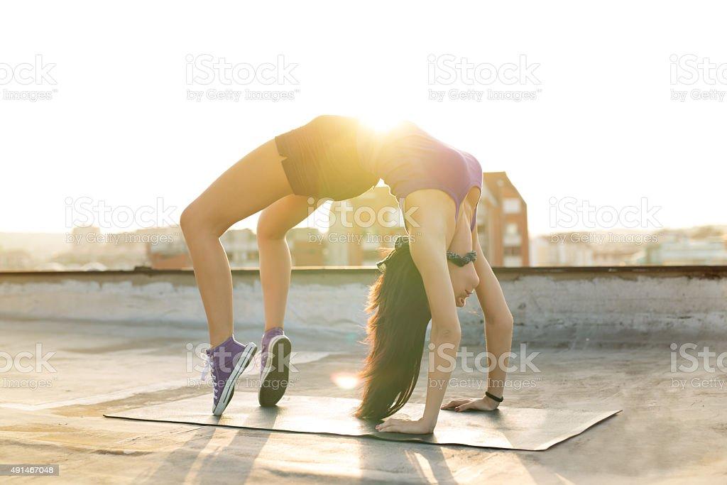 Miss Flexibility stock photo
