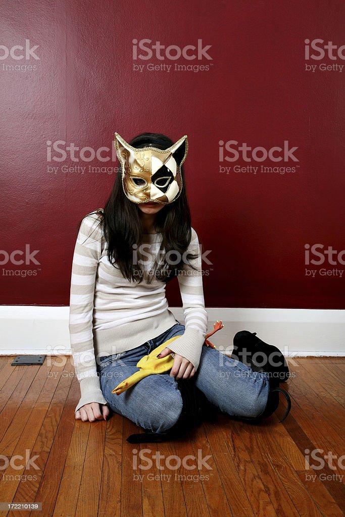 Miss Kitty - Brooding stock photo