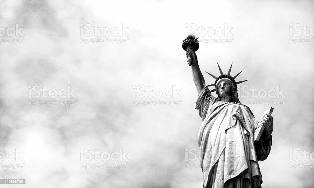miss liberty landscape stock photo
