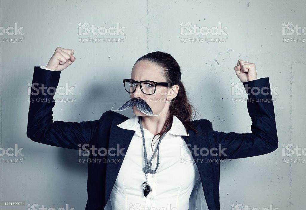 Miss Movember royalty-free stock photo