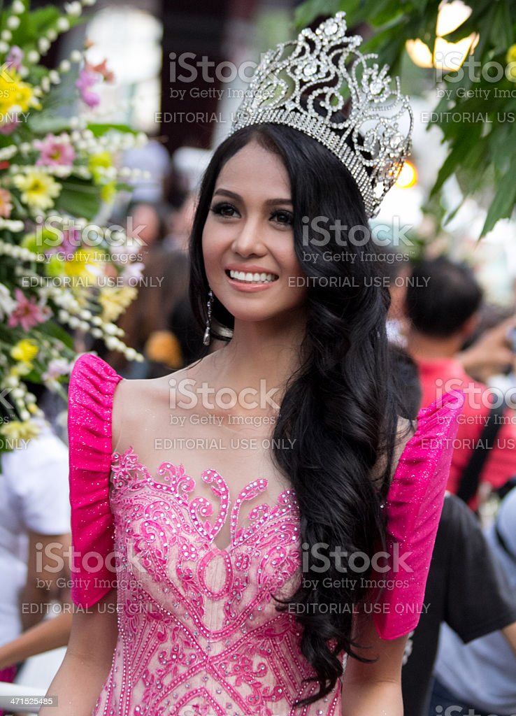 Miss Philippines beauty queens royalty-free stock photo