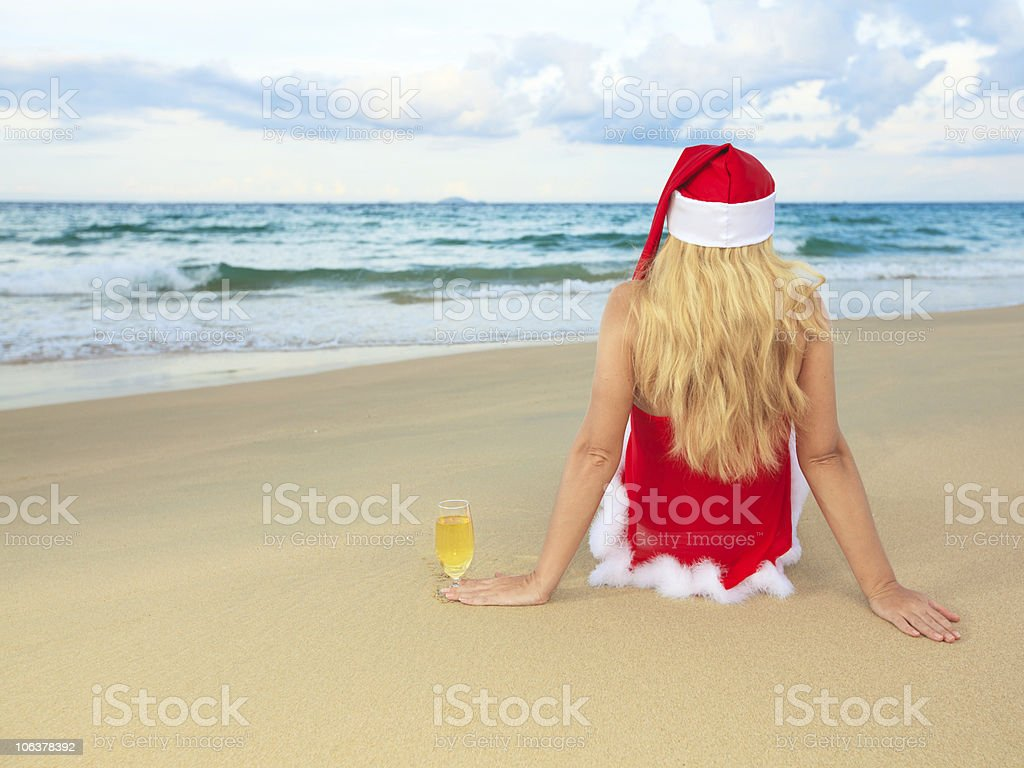 Miss Santa royalty-free stock photo
