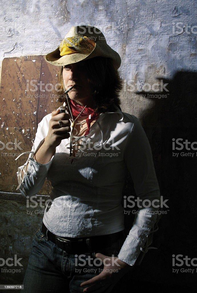 Miss Sheriff royalty-free stock photo