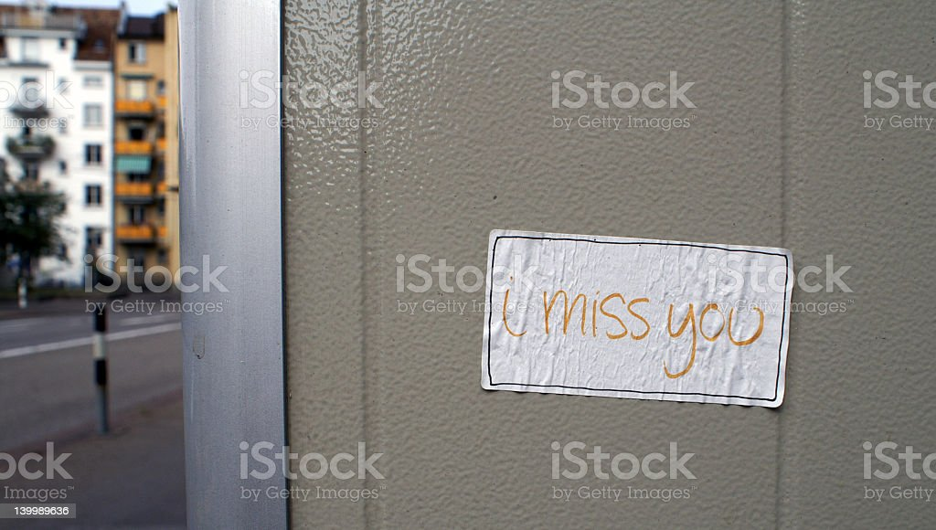 I miss you royalty-free stock photo