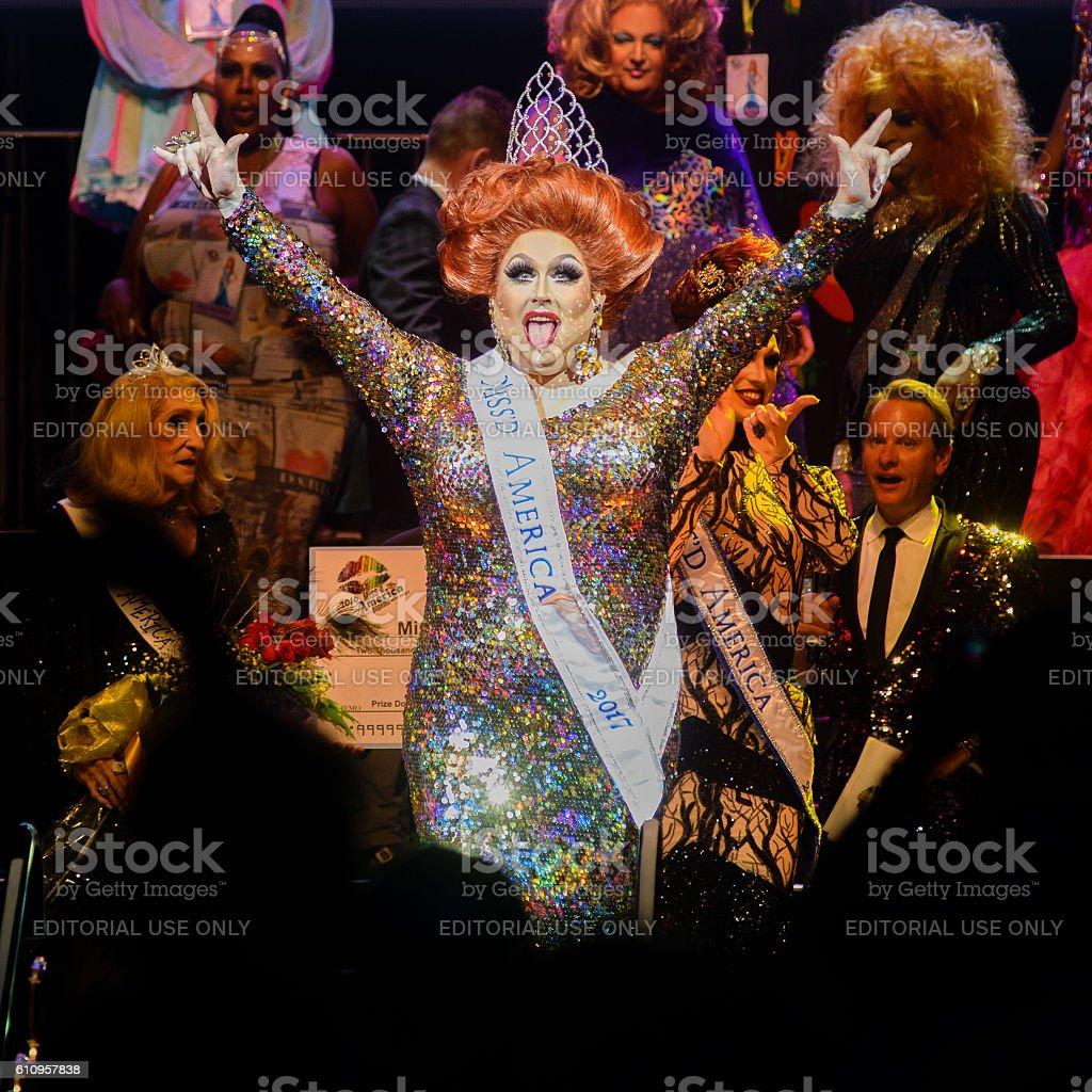 Miss'd America 2017 crowned in Atlantic City stock photo