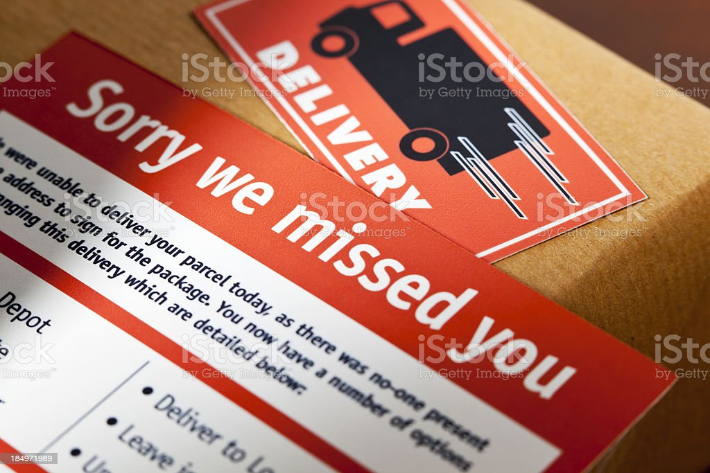 Missed Delivery stock photo