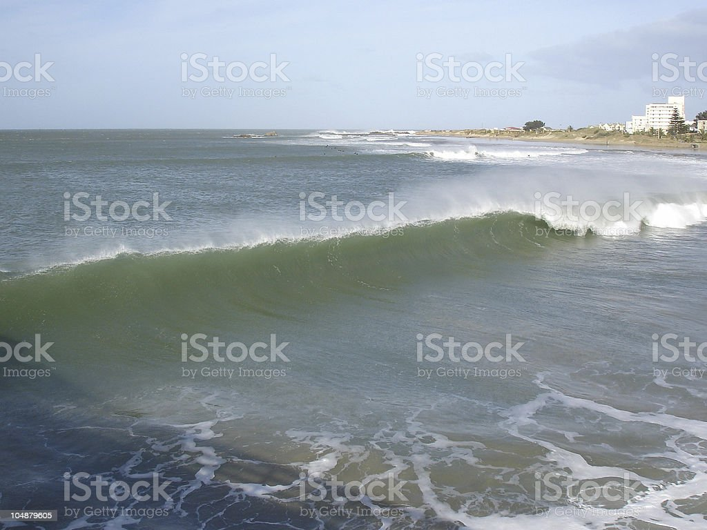 Missed the perfect wave. royalty-free stock photo