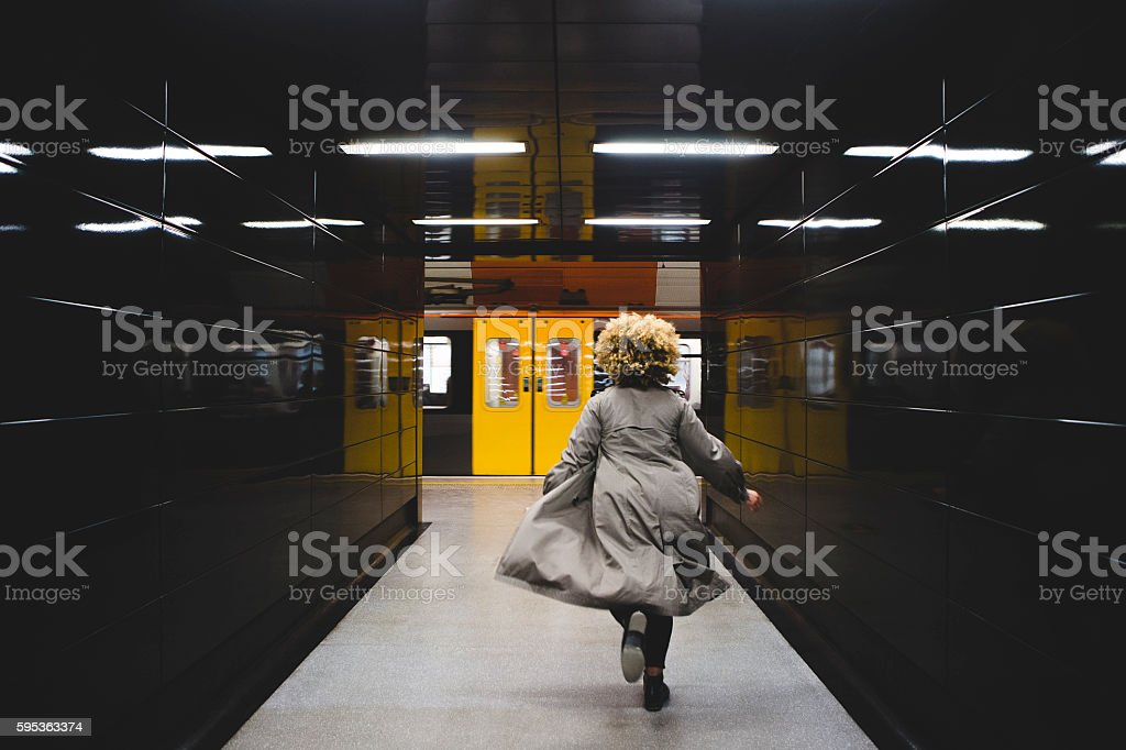 I missed the train! stock photo