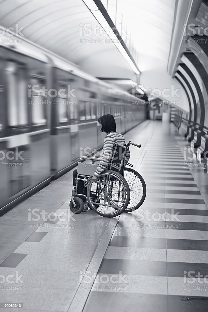 Missed the train royalty-free stock photo