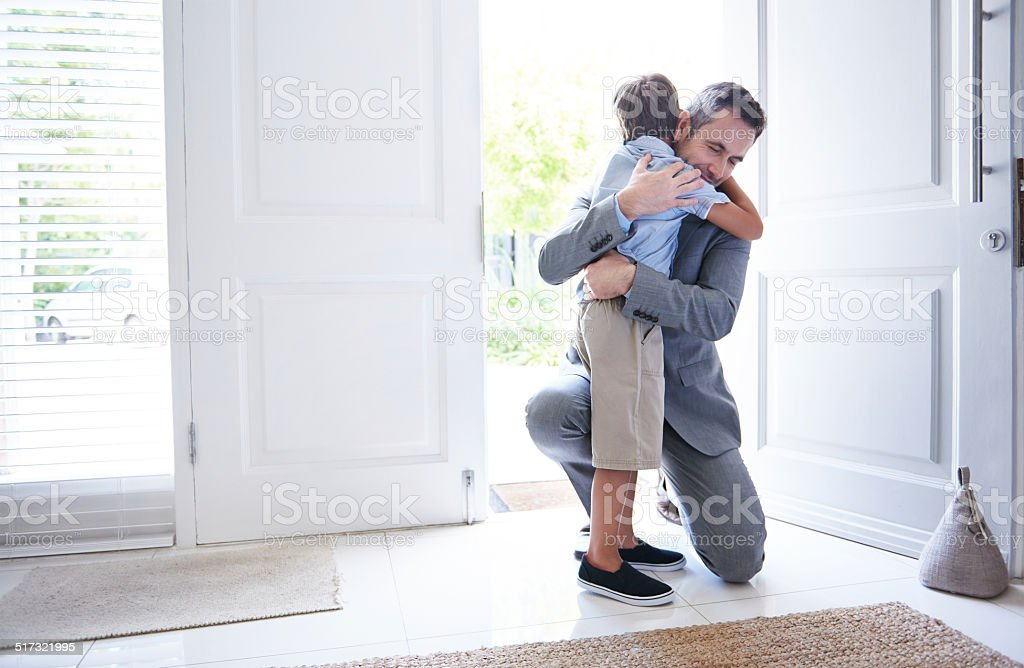I missed you too! stock photo