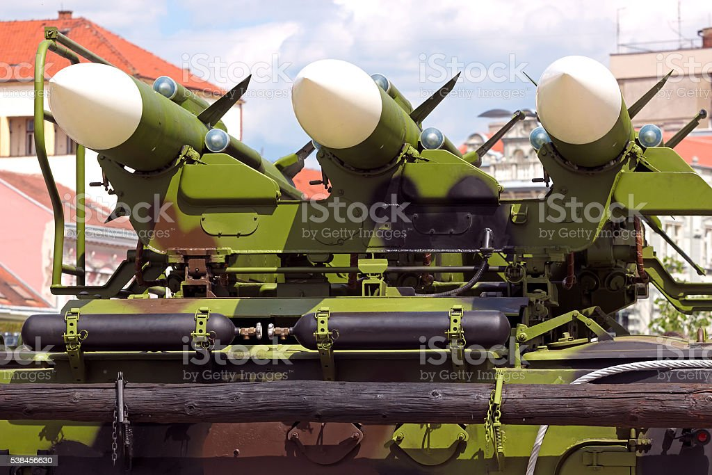 Missile carrier system stock photo