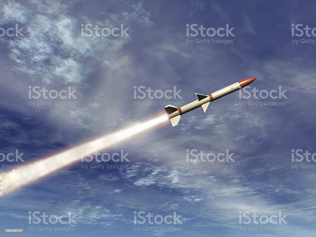 Missile stock photo