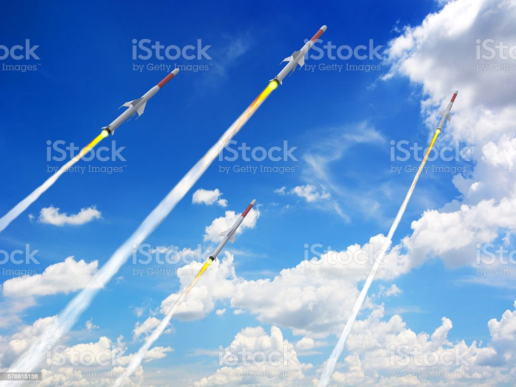 Missiles Launch stock photo