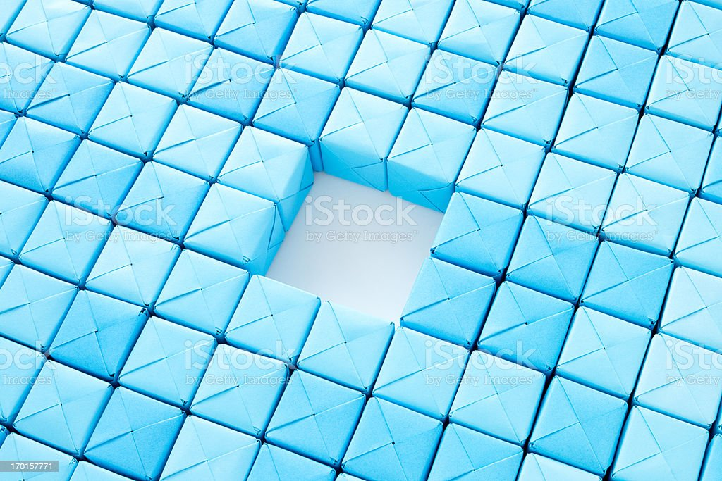 Missing cubes royalty-free stock photo