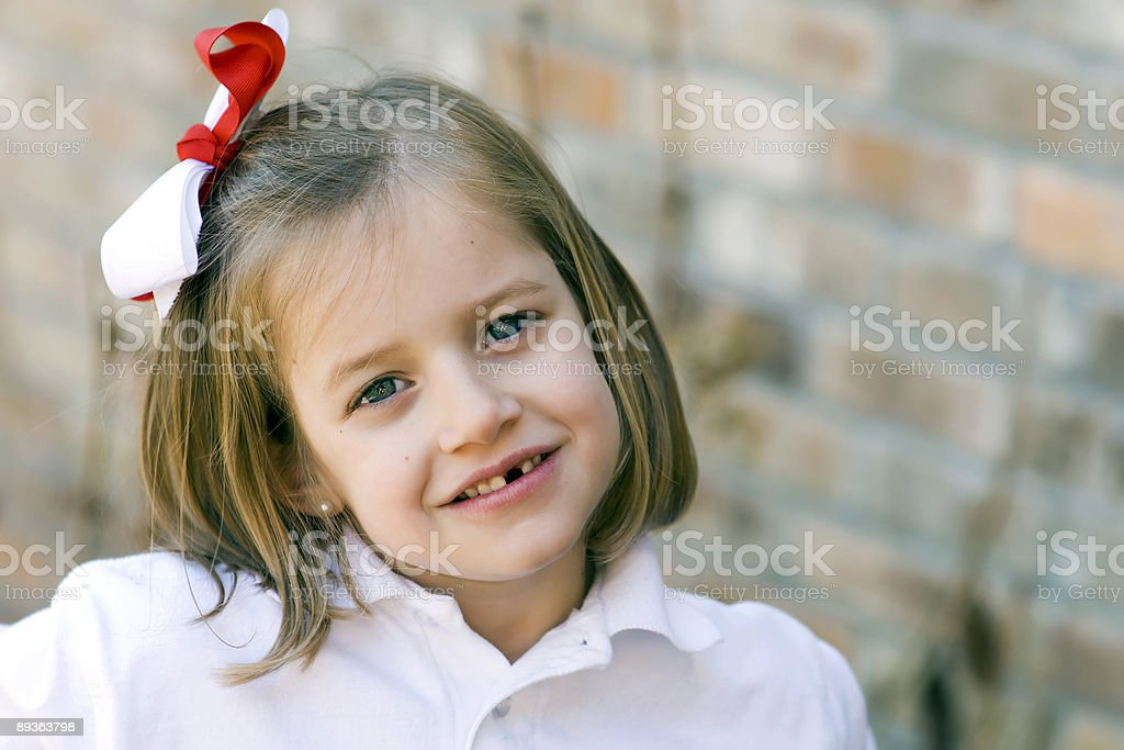 Missing front tooth royalty-free stock photo