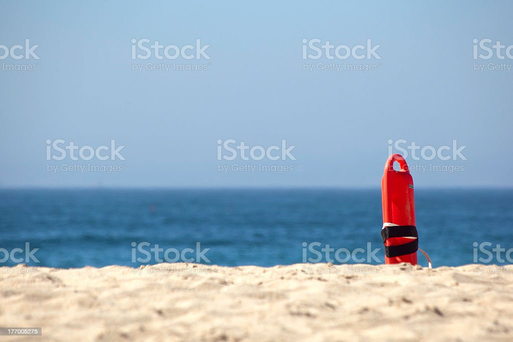Missing lifeguard royalty-free stock photo