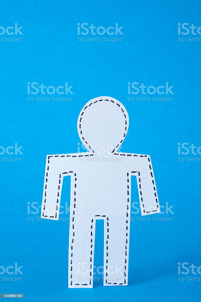 Missing man stock photo