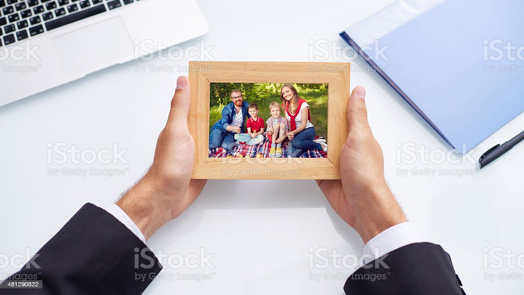 Missing my family stock photo