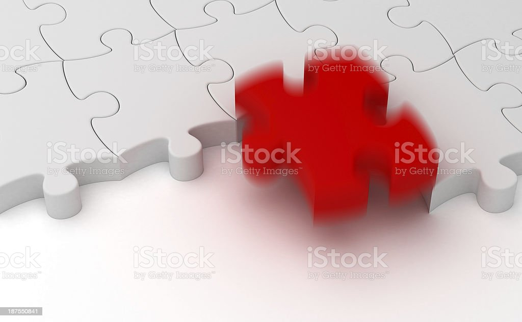 Missing part royalty-free stock photo